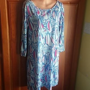 Lilly Pulitzer Marlowe boatneck tshirt dress